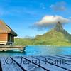 View of Bora Bora from private dock