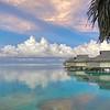 Bungalows on Moorea, French Polynesia