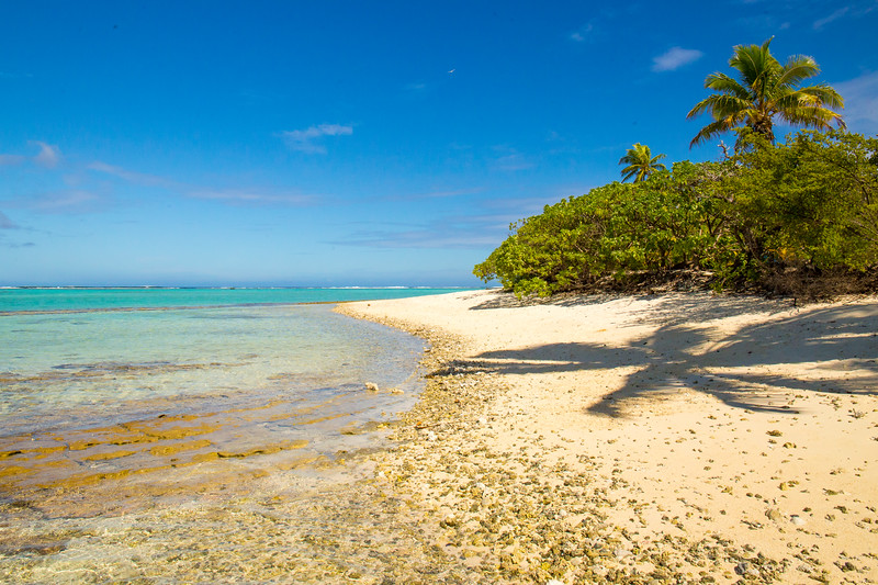 A motu in the lagoon of Aitutaki