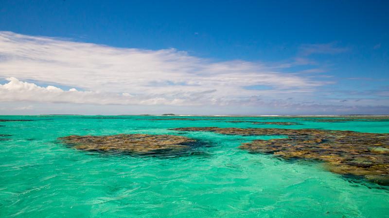 The lagoon of Aitutaki