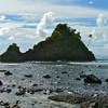 Beach scene at Pago Pago, American Samoa