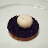 Smoked Ocean Trout and Avruga Caviar topped with a quail egg