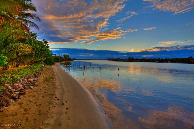 Main Island of Fiji at Sunset Pearl Resort