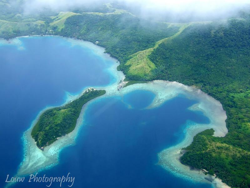 Aerial shot of Fiji