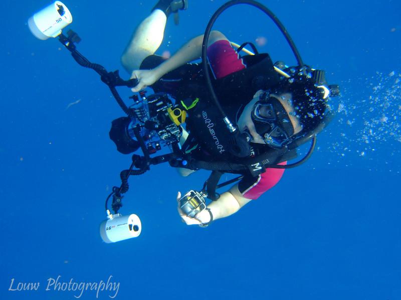 Andrew scuba diving, Taveuni, Fiji