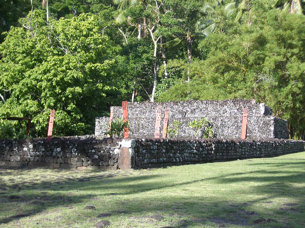 Sacrifical site at Arahurahu Marae