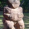 Stone sculpture Arahurahu Marae