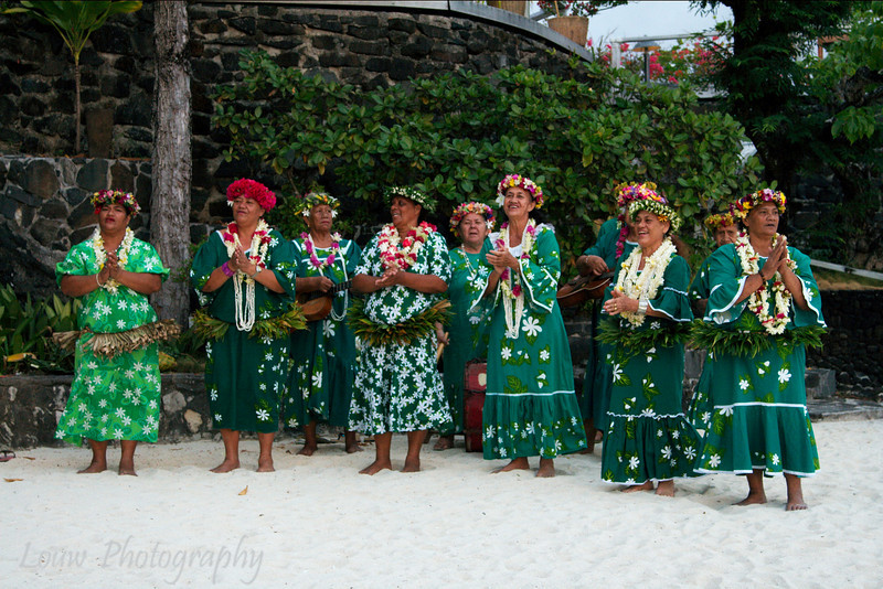 "The ""Mamas"" of Bora Bora performing at Hotel Bora Bora, French Polynesia"