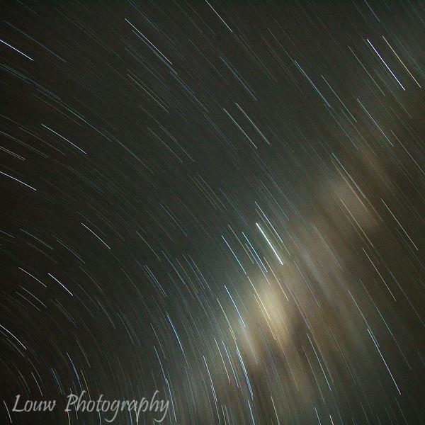 Star trails, Bora Bora, French Polynesia
