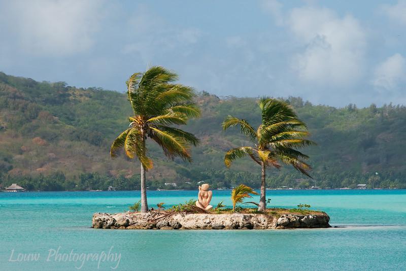 View from Bora Bora airport, French Polynesia