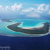 Tupai, a heart-shaped island near Bora Bora as seen by helicopter