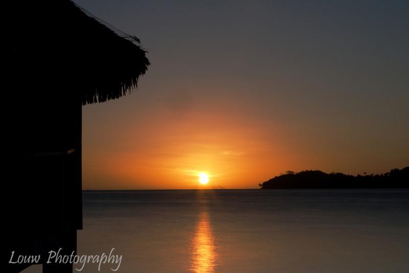 Sunset at Hotel Bora Bora, French Polynesia