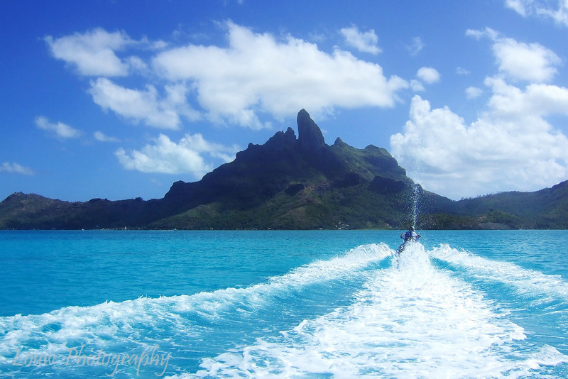 Jet skiing in Bora Bora, French Polynesia
