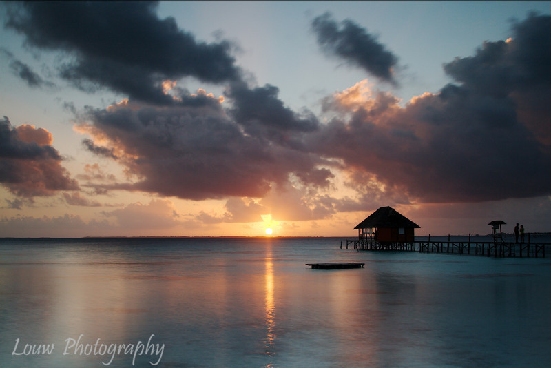 Sunset at Pension Havaiki, Fakarava, French Polynesia