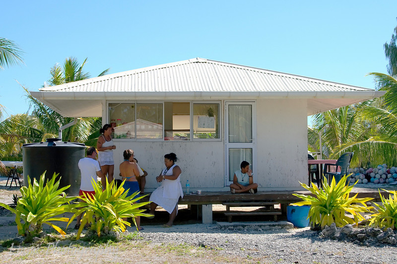 Snack shop near Manihi airport, French Polynesia