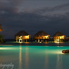 Night shot at Manihi Pearl Beach Resort, French Polynesia