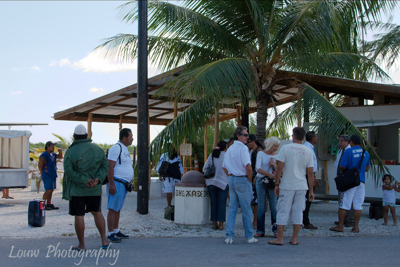 Manihi airport lounge and terminal, French Polynesia