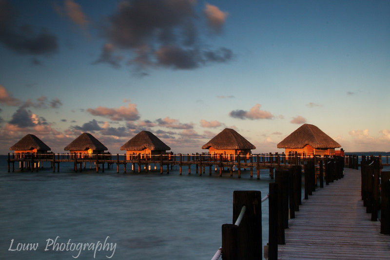 Sunset at Manihi Pearl Beach Resort, French Polynesia