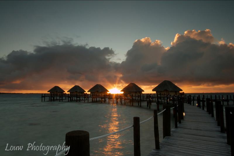 Sunrise at Manihi Pearl Beach Resort, French Polynesia