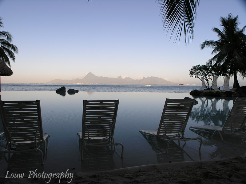 View of Moorea from Tahiti, French Polynesia