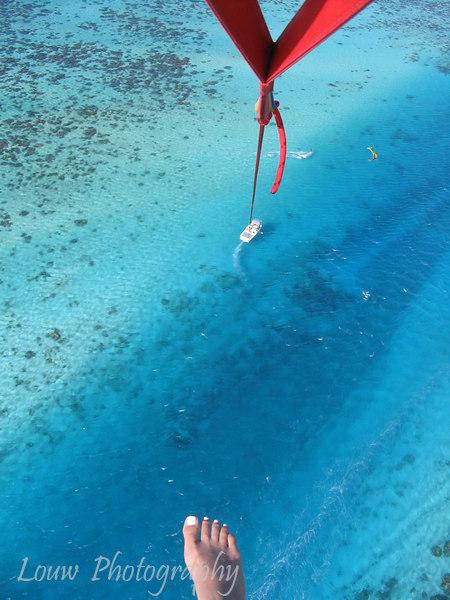 Parasailing in Moorea, French Polynesia