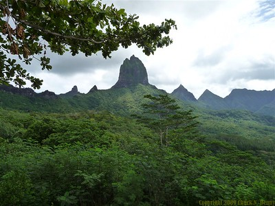 """at the """"Belvedere"""" lookout point on Moorea"""