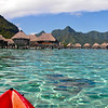 Kayaking around the lagoon in Moorea
