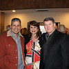 David Arcos with Michele and Michael Downing