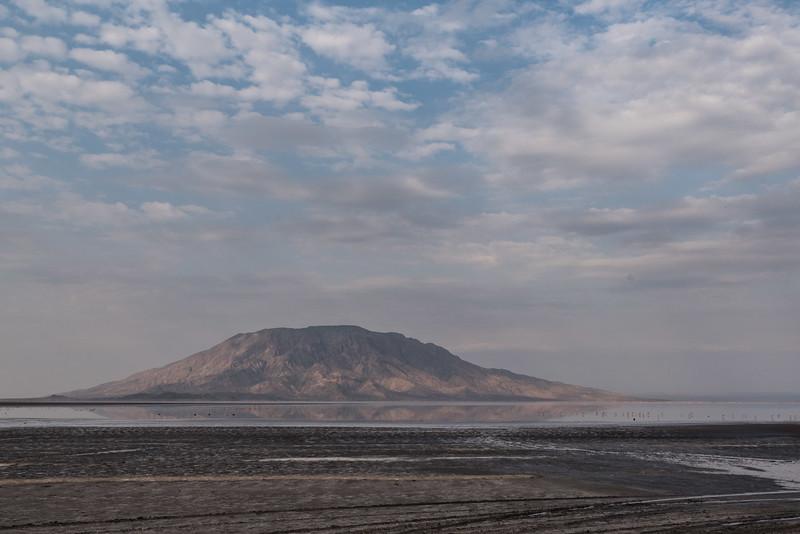 Lake Natron and Mount Shompole