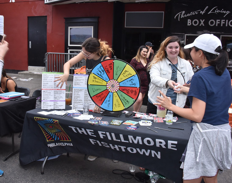 The Fillmore was on hand to give out prizes