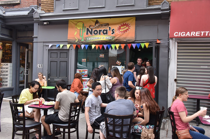 People celebrated Cinco de Mayo at Nora's