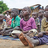 Kadoro village. Children attending a risk education session in their village.