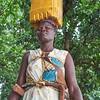 Woman fetching water. Guma camp