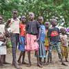 Children outside Guma camp