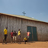 South Sudan. Church in a Protection of Civilian Site in Juba.
