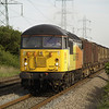 56094 hammers past the foot crossing at Margam knuckle yard with 6Z50 Chirk - Baglan Bay on 1/6/13