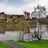 Caerphilly Castle in South Wales 17