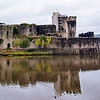 Caerphilly Castle in South Wales 18