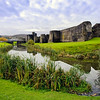 Caerphilly Castle in South Wales 11