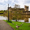 Caerphilly Castle in South Wales 16