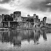 Caerphilly Castle in South Wales 22
