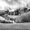 Caerphilly Castle in South Wales 19