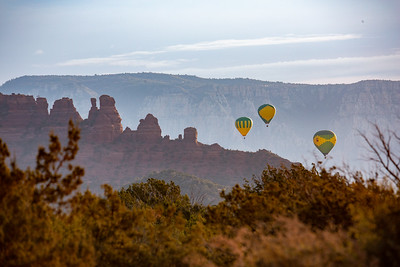 Balloons over the CocksComb, Sedona