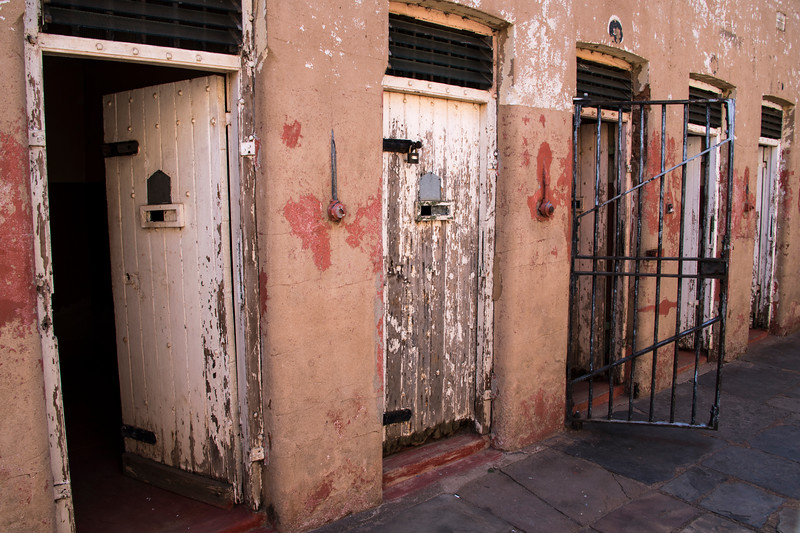 south africa, johannesburg, constitution hill, doors, jail cell