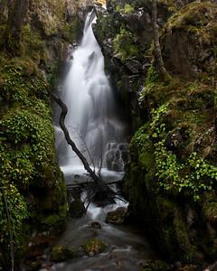 A hidden waterfall in Los Glaciers national park, El Chaten, Argentina