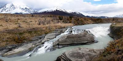 Double horseshoe falls in Torres del Paine