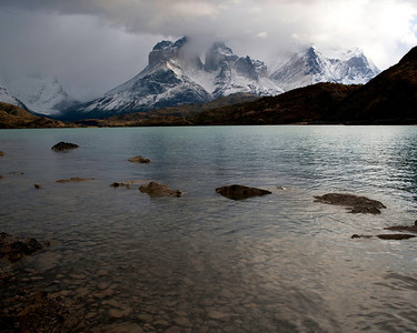 The horns at Torres del Paine are often shrouded in clouds
