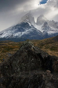 The Horns at Torres del Paine, in clouds again