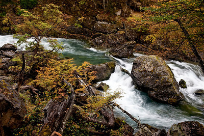 Rapids along Las Vueltas Canyon, El Chaten Argentina