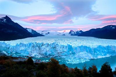 Perito Moreno glacier at dawn